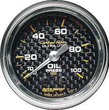 Autometer Oil Press Carbon Fiber