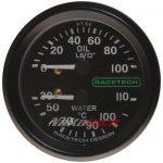 Presion de Aceite y Temp de Agua Racetech