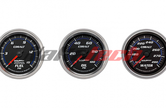 Relojes Autometer Cobalt – Nafta, Aceite y Agua