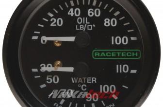 Presión de Aceite y Temp. de Agua Racetech