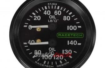 Instrumental Racetech – 52mm – Presión y Temperatura de Aceite